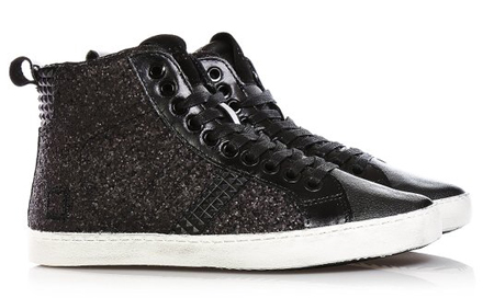 D.A.T.E. Black Lace-up Sneakers