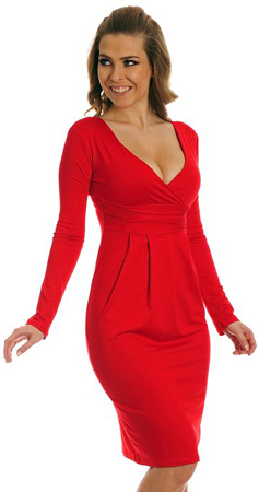 Glamour Empire Red Dress