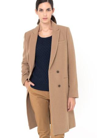 La Redoute Wool Coat Camel
