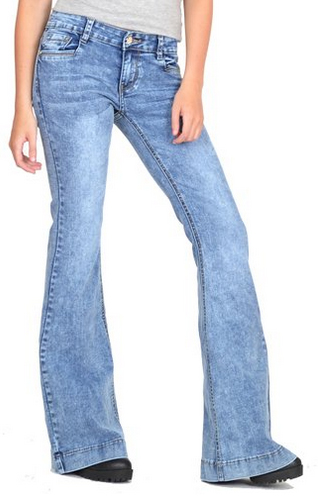 Cindy-H-Vintage-Faded-Bell-Bottom-Wide-Flared-Jeans