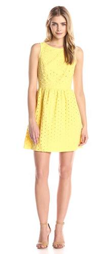 Kensie - Women Daisy Dot Eyelet Dress