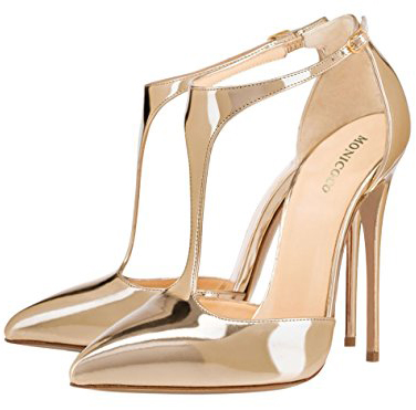 Monicoco Ankle Strap Pumps For Wedding Party