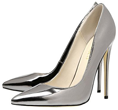 Monicoco High Heels Mirrored Pointed-Toe Pumps