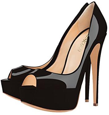 Monicoco Peep-Toe High Heels Pumps With Platform
