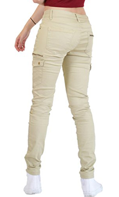 Ana Lucey Slim Skinny Stretch Cargo Trousers