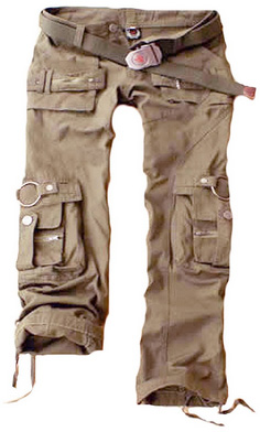 Juicy Trendz Womens Army Military Cargo Pants