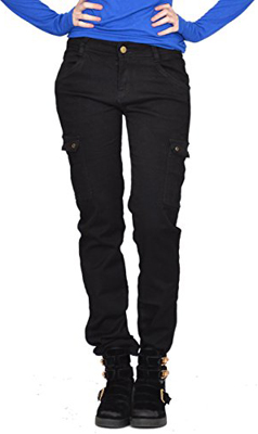 Display Slim Fitted Skinny Stretch Cargo Pants