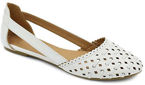 Greatonu Laser Cut Flat Ballet Shoes