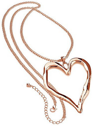 Unique Gifts On The Web Rose Gold Necklace