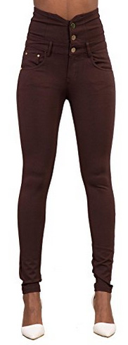 Lusty Chic High Waisted Slim Fit Trousers