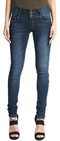 TheMogan Curvy Elastic Waist Band Skinny Jeans