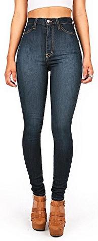 Vibrant Women's Classic High Waist Denim Skinny Jeans