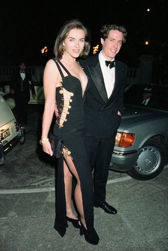 Elizabeth Hurley Wears the Pin Dress By Versace