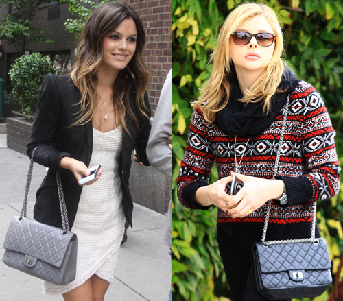 Rachel Bilson and Chloe Grace Moretz with the Chanel Reissue 2.55