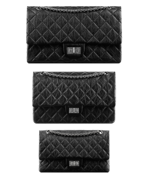 Several Sizes of the Chanel Bag