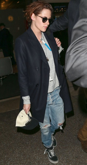 Kristen Stewart - Levi's and Vans Outfit