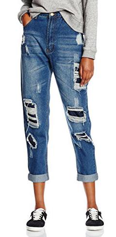 Boohoo Rip e Repair Mom Jeans