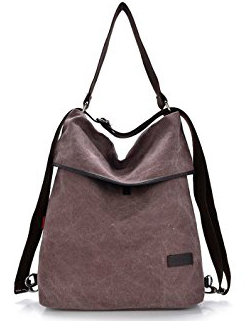 HingyuTing Vintage Canvas Backpack - Shoulder Bag
