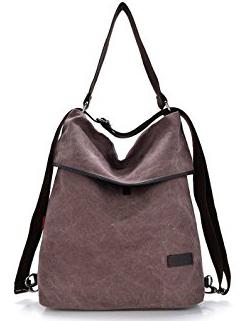 HingyuTing Vintage Canvas Backpack - Shoulder Bag