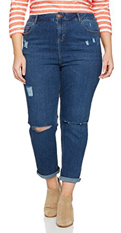 New Look Curves Ripped Mom Jeans