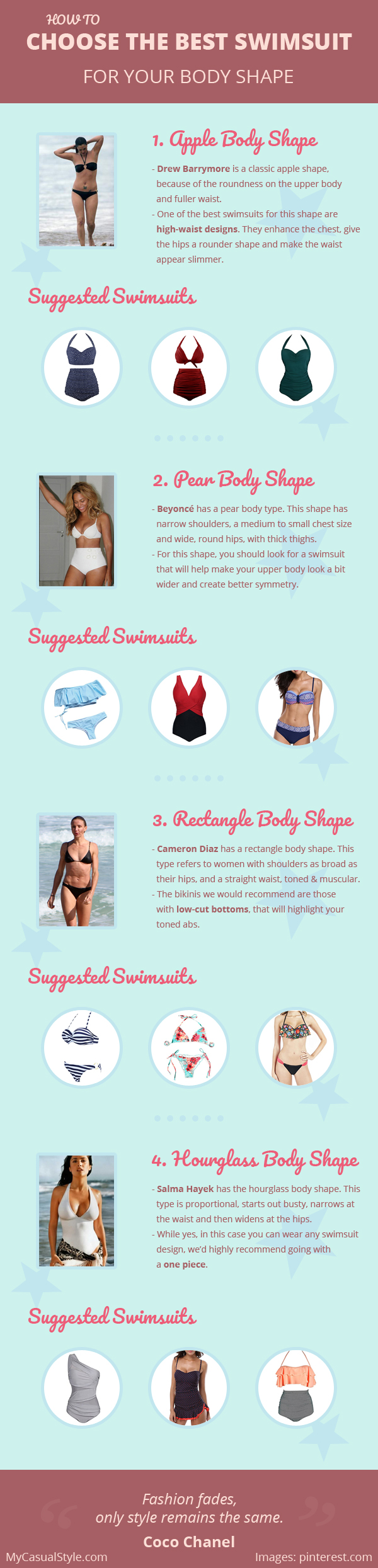 How To Choose The Best Swimsuit For Your Body Shape + Some Suggestions
