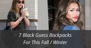 Black Guess Backpacks Fall Winter