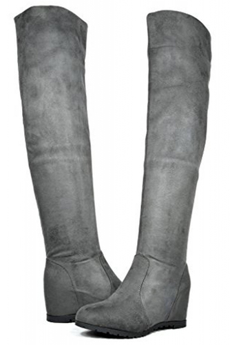 Dream Pairs Leggy Stretchy Faux Suede Boots