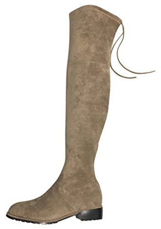 Kaitlyn Pan Microsuede Flat Over The Knee Boots