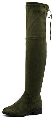 Ollio Over The Knee Zip Up Long Boots
