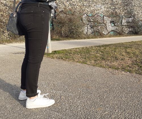 Woman Wearing Black Jeans