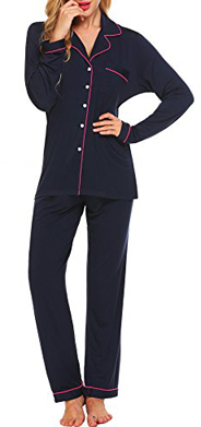 Ekouaer Long Sleeve Pajama Set