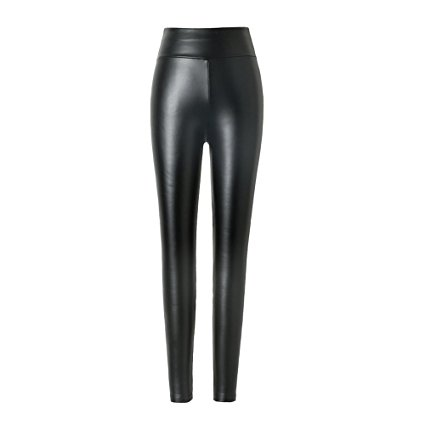Hituus High Waist Leggings Synthetic Leather