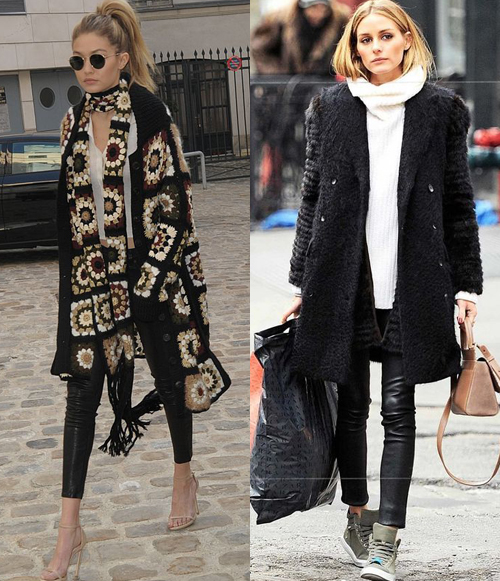 Ideas On Styling Leggings: Gigi Hadid and Olivia Palermo