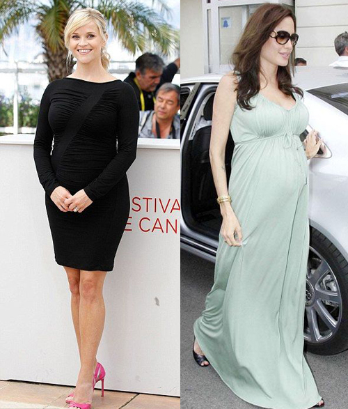 Maternity Looks: Angelina Jolie And Reese Whiterspoon