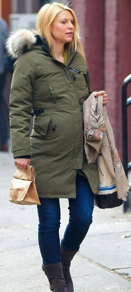 Maternity Look: Claire Danes