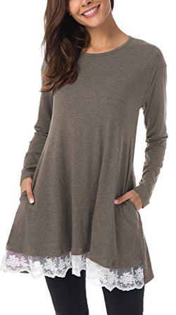 Mounblun Tunic Top Blouse With Pockets