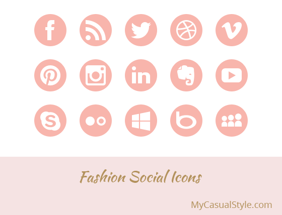 Fashion Social Icons Light
