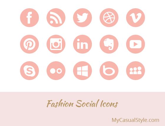 Fashion Social Icons Light