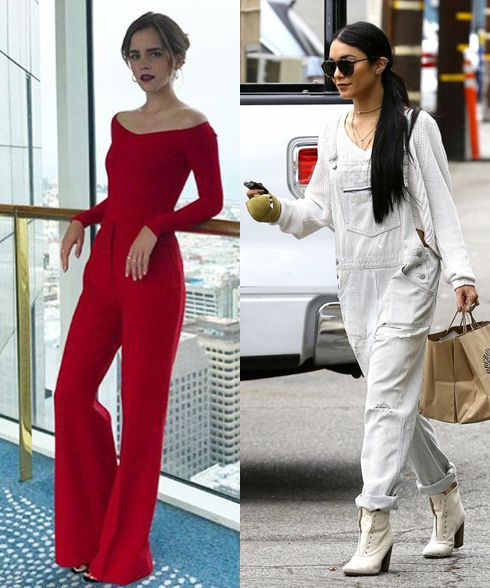 Best Jumpsuits For Women: Emma Watson and Vanessa Hudgens