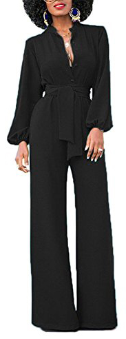 Yuare Wide Leg Long Sleeve Jumpsuit