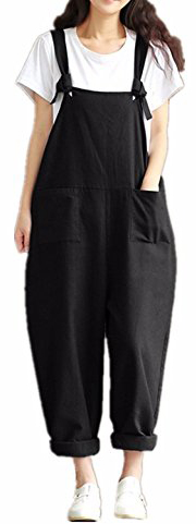 Zanzea Styledome Baggy Sleeveless Dungaree Jumpsuit