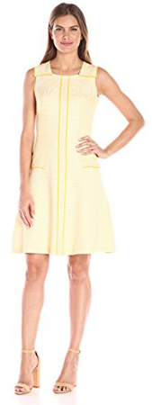 Anne Klein Drop Waist Fit and Flare Dress