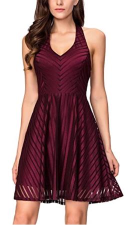 InsNova Fit Flare Party Dress