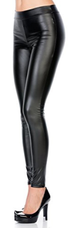Junky Closet Faux Leather Stretchy Leggings