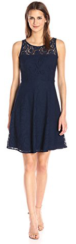 Nine West Fit and Flare Dress With Yoke