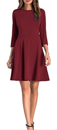 Sarin Mathews 3/4 Sleeve Fit and Flare Dress