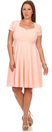 Simlu Fit and Flare Plus Size Dress