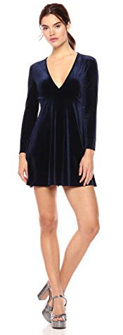 Wild Meadow Stretch Velvet Fit and Flare Dress