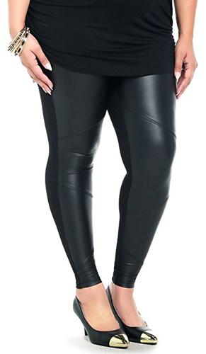 1826 Jeans Faux Leather Stretch Plus Size Pants