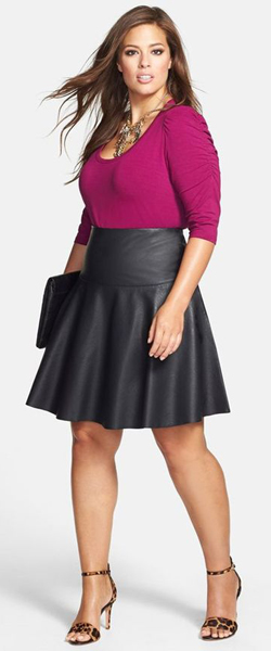 Flattering Skirts for Big Hips and Thighs (Ashley Graham)